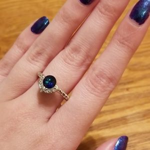 Cute Blue Cocktail Ring